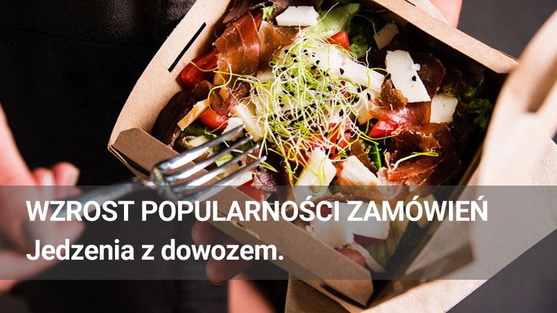 Wzrost popularności zamówień jedzenia z dowozem.