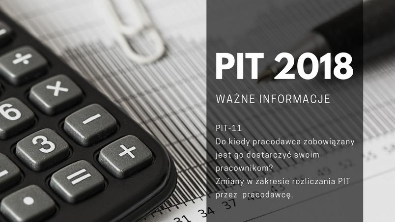 PIT 2018 – ważne informacje